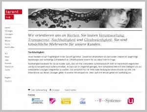 tarent corporate website / Werte / Nachhaltigkeit