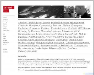tarent corporate website: Glossar, Verknüpfen