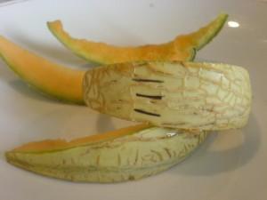 Was von drei Melonen übrig blieb