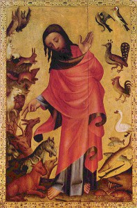 Meister Bertram von Minden: Die Erschaffung der Tiere (1375-1383)