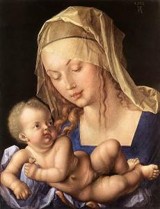 Albrecht Dürer: Madonna mit der Birnenschnitte, 1512