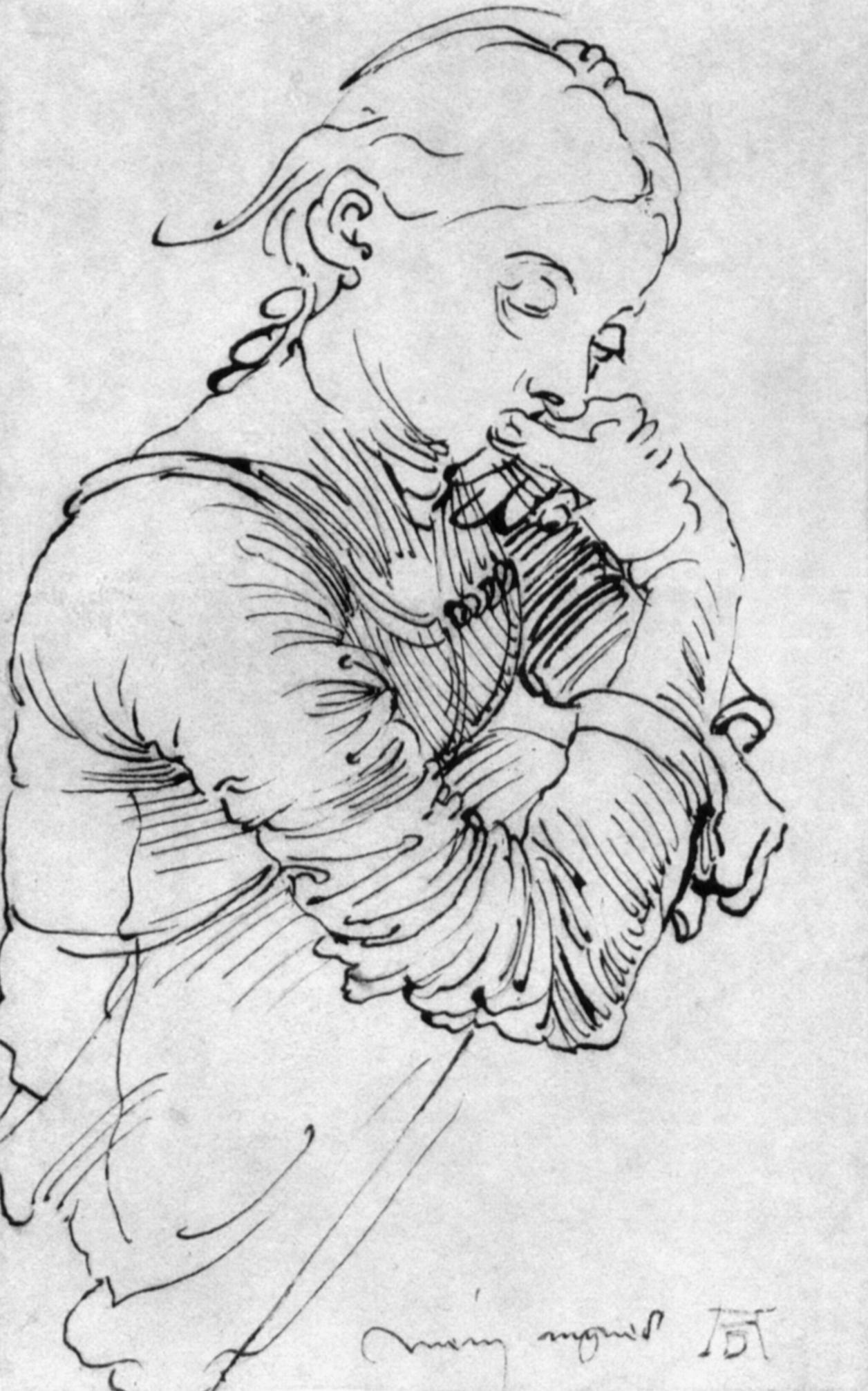"""""""Mein Agnes"""", Federzeichnung von Albrecht Dürer, 1494"""