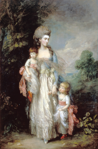 Gainsborough, Thomas  Mrs Elizabeth Moody with her sons Samuel and Thomas year  c.1779-85
