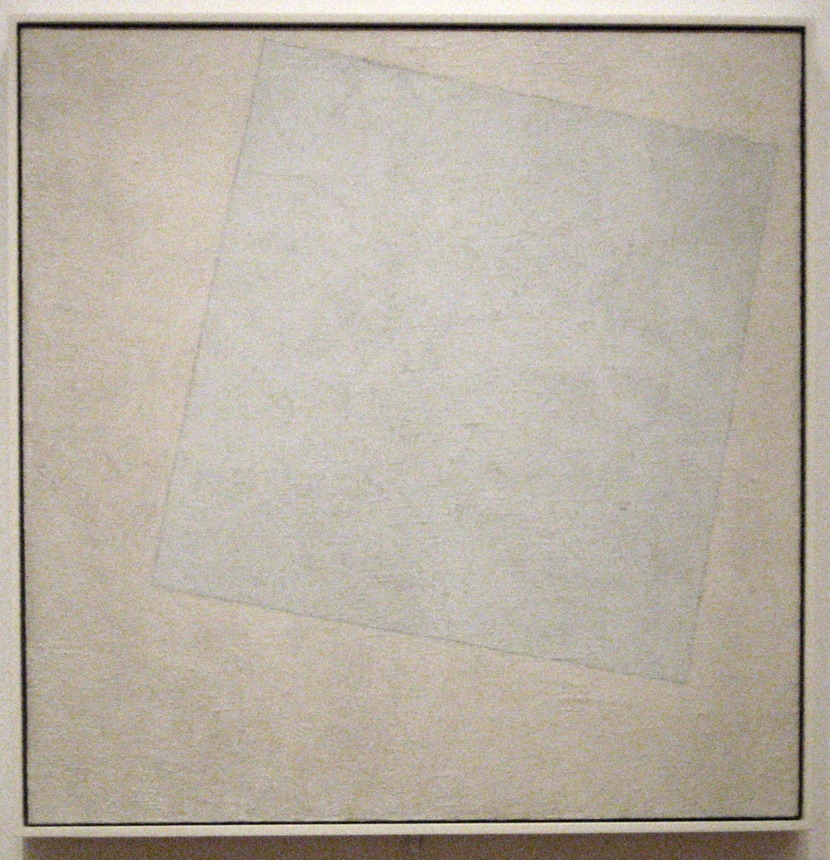 carré blanc sur fond blanc , huile sur toile de Kasimir Malevitch, 1918. Museum of Modern Art de New York