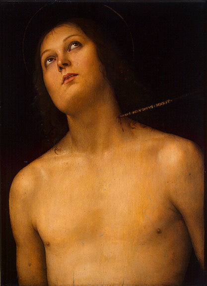 St Sebastian ,  between 1493 and 1494 Perugino, Pietro (Pietro Vannucci)